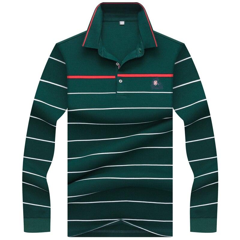 2019 Top Rushed Voll Frühling Herbst männer Polo Hemd Langarm Hohe Qualität Business Casual Komfortable Männer Marken Kleidung