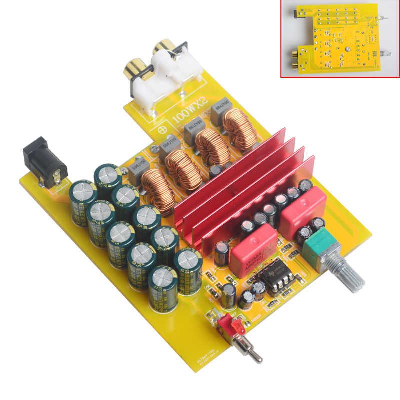 Вreeze Audio (Бриз аудио BA100 Hi-Fi Класс D аудио цифровой Мощность усилитель tpa3116d2 TPA3116 расширенный 2*100 Вт Домашний Мини Алюминий корпус усилителя