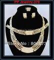 Oro Quality18kgp Plateó Estilo de Oro Africano Sistemas de la Joyería de Moda de Damas de Honor de La Joyería