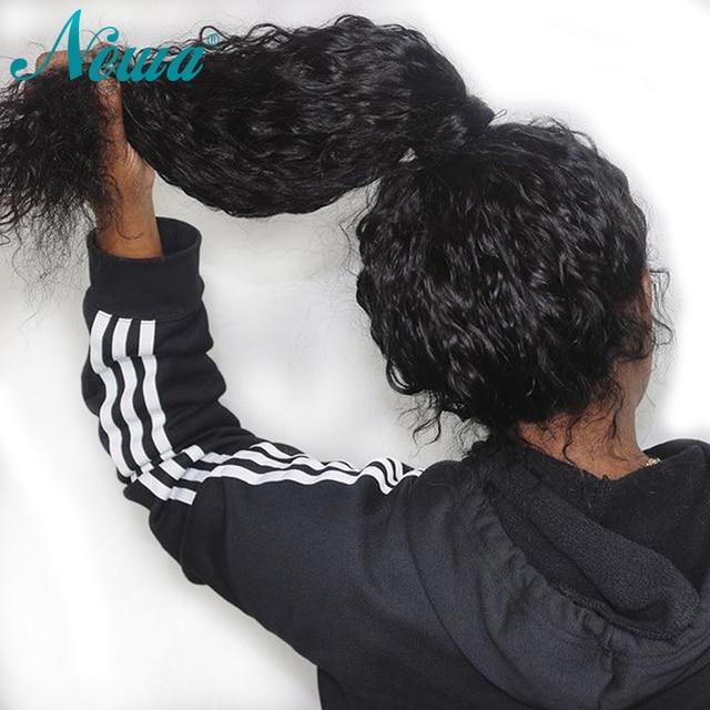 Pelucas de pelo humano de encaje Pre desplumado de densidad NYUWA 150% para mujeres negras pelo humano brasileño Remy pelucas frontales con el pelo del bebé