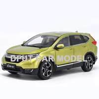 diecast 1:18 Alloy Pull Back Toy CRV SUV Honda Car Model Of Children's Toy Cars Original Authorized Authentic Kids Toys