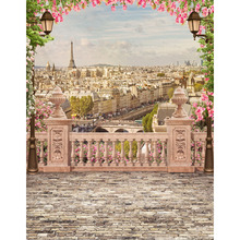 الفينيل التصوير الخلفيات برج ايفل الطباعة تخصيص الخلفيات الرقمية خلفية للصور الاستوديو الزفاف الأطفال