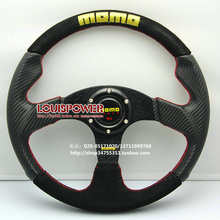 Free shipping hot MOMO steering wheel modification / PVC Carbon + matte leather steering wheel / steering wheel racing