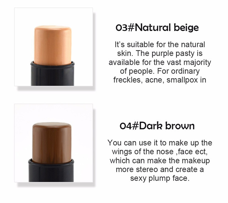 MIXIU Face Makeup Concealer Stick Long-wearing Waterproof Corrector And Brushes Highlighter Cream 4 Colors Concealer Pencil (6)