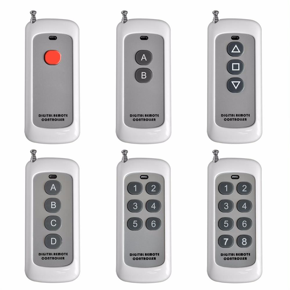 SMARSECUR 0-500m 1CH 2CH 3CH 4CH 6CH 8CH 1 2 3 4 6 8 CH Channel RF Wireless Remote Control Transmitter 315MHZ dc24v 8ch rf wireless remote control switch 8 receiver