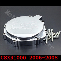 Fit for Suzuki GSXR1000 GSXR 1000 2005 2008 Motorcycle Engine Stator cover Chrome left side K5 K7