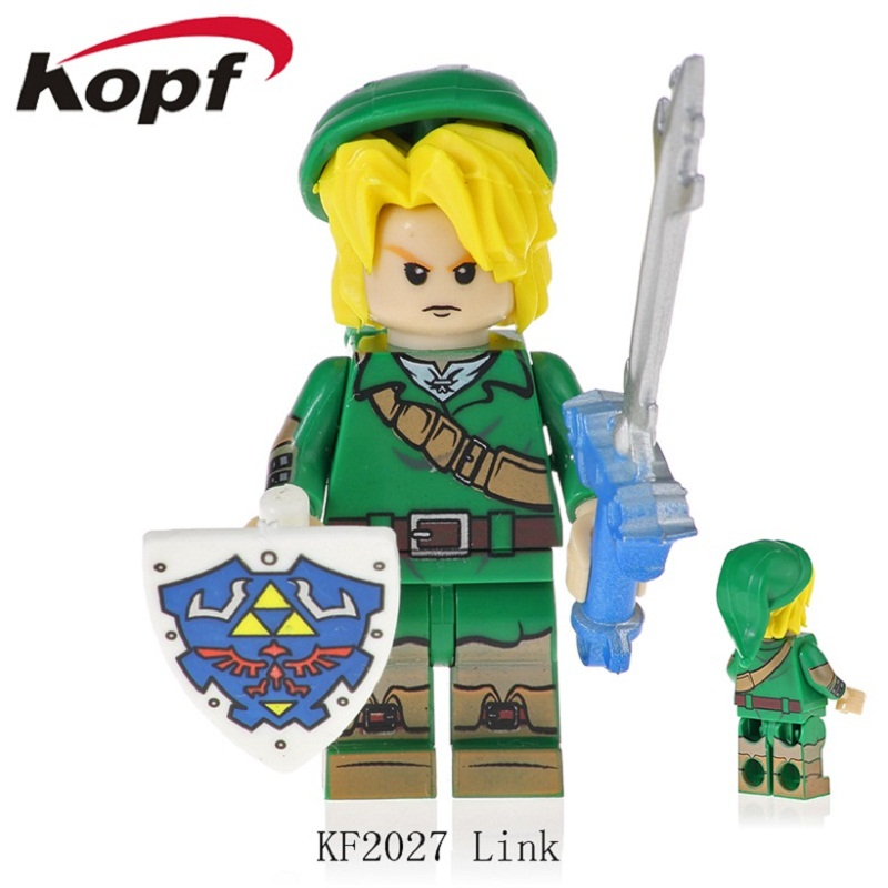 <font><b>KF2027</b></font> Single Sale Famous Character Game Princess Link Bricks Building Blocks Collection Dolls For Children Gift Toys image
