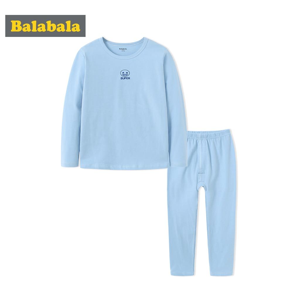 Balabala Autumn Boys Girls Soft Cotton Snug Fit Pj   Set   Teenage Girl Boy Sleepwear   Pajamas     Set   Nightwear Pijamas Mujer in Color