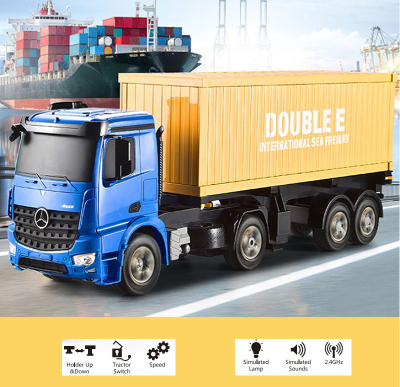 2 4G 1 10 RC heavry Truck remote Control Tip Lorry Auto Lift Engineer RC Container
