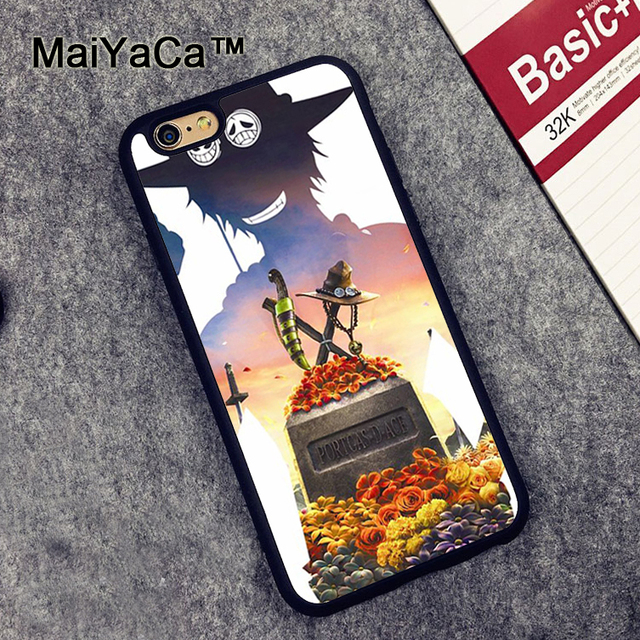Anime One Piece Ace Phone Cases For iPhone 6 6s Case