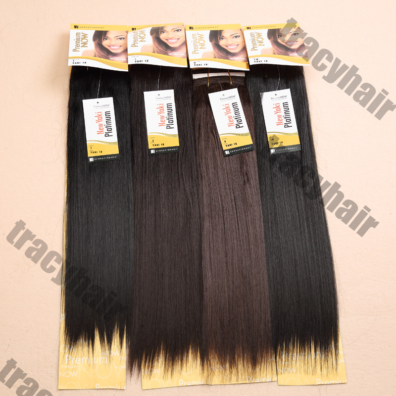 High Quality Tissage Synthetic Hair Extension Premium Now Hair Yaki