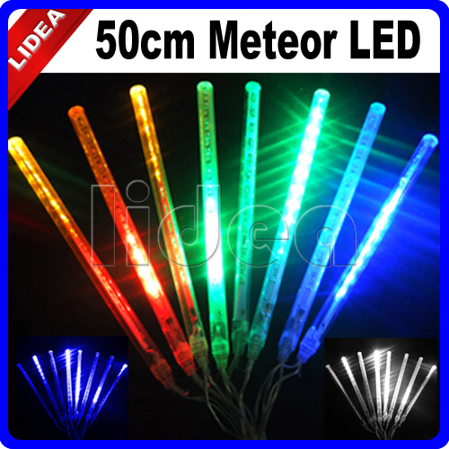 50CM Meteor Shower Rain New Year Xmas Navidad Cord Fairy String LED Garland Christmas Garden Outdoor Decorative Light HK C-28
