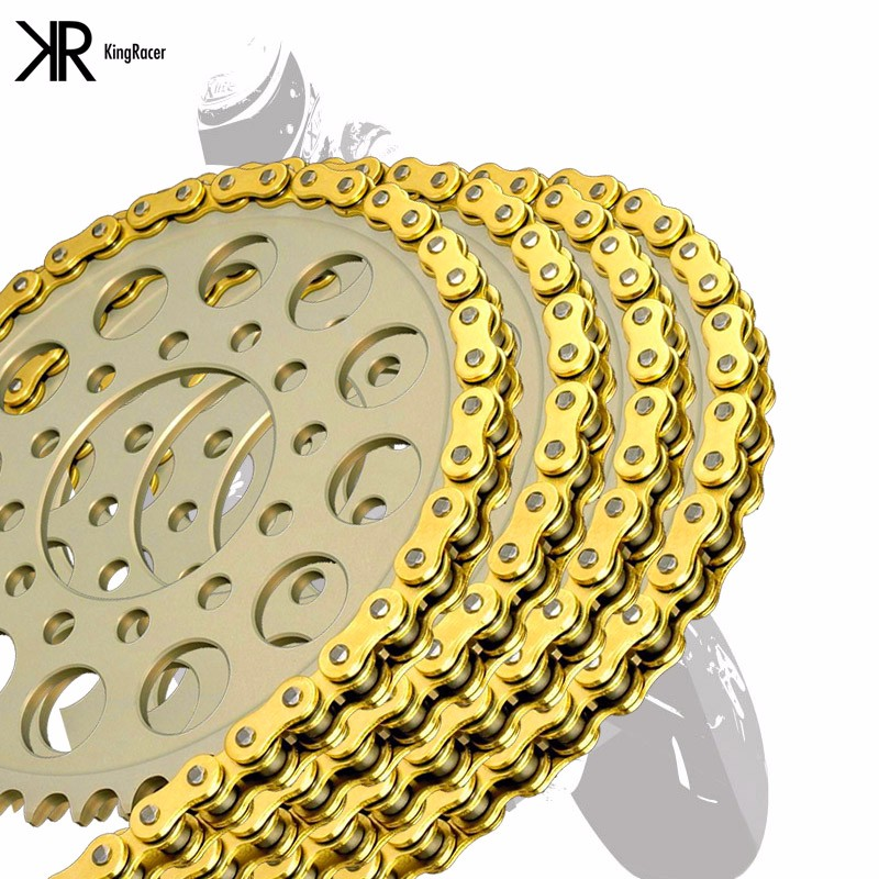NEW Motorcycle UNIVERSAL Drive Chain Gold O-Ring520 Length 120 new motorcycle 520 o ring gold drive chain 120 links 520 x 120 with masterlink