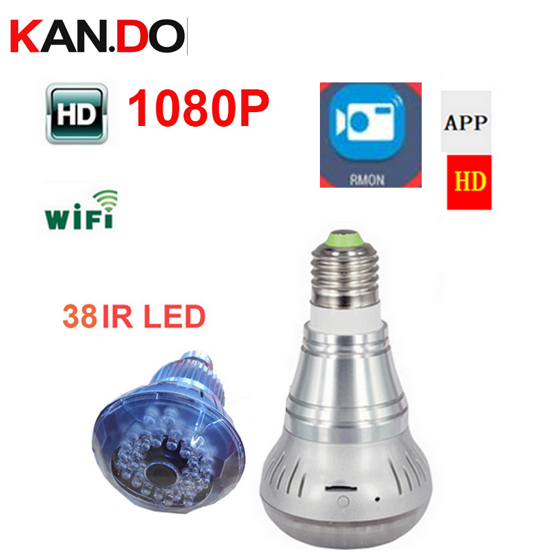 bilder für Wifi IP Lampe Licht form Kamera P2P wifi kamera lampe überwachungs Micro Kamera 1080 P Mini Smart 38LED Nachtsicht birne kamera