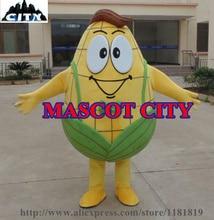 MASCOT Golden Mr Corn Mascot Costume Adult Size Gentle Man Corn Plant Mascotte Mascota Outfit Suit Fancy FREE SHIP MC71343