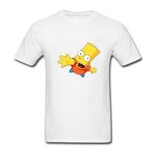 d646ada07 Bart Simpson Imprimir T-Shirt Formal Para Homens meninos Tshirt dos homens  Em Torno Do
