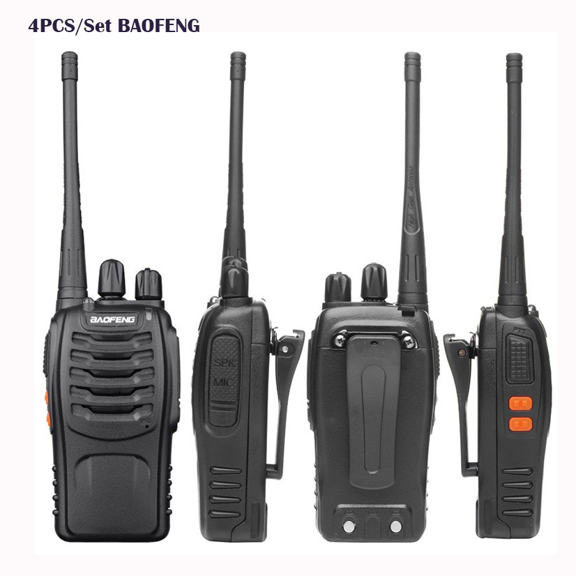 4 pcs walkie talkie handy Baofeng BF 888S Intercom ham Two way radio comunicacion baofeng bf