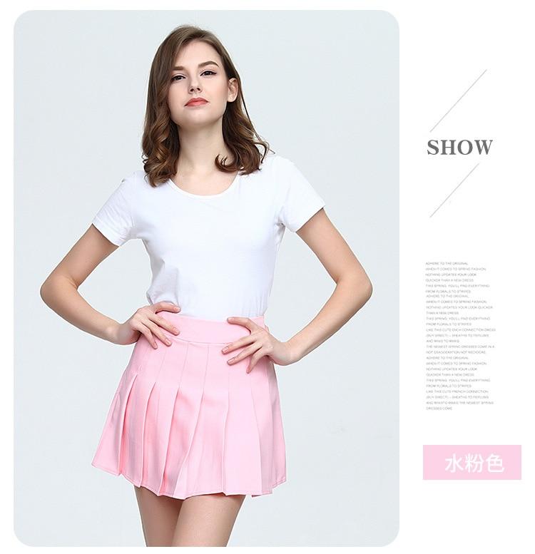 Girls A Lattice Short Dress High Waist Pleated Tennis Skirt Uniform with Inner Shorts Underpants for Badminton Cheerleader-14