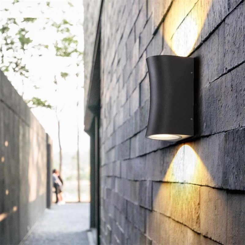 Простой современный открытый настенный светодио дный светильник водостойкий светодиодный крыльцо огни Черный Настенный бра светильники Сад проход балкон освещение