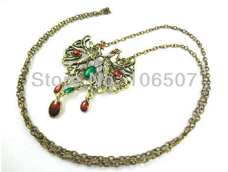 wholesale free shipping 10pcs classic double Chinese phoenix necklace characteristic choker necklace sweater chain new hot sell