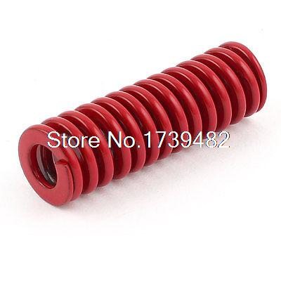 Red Medium Load Press Flat Coil Compression Die Spring 16mm x 8mm x 50mm