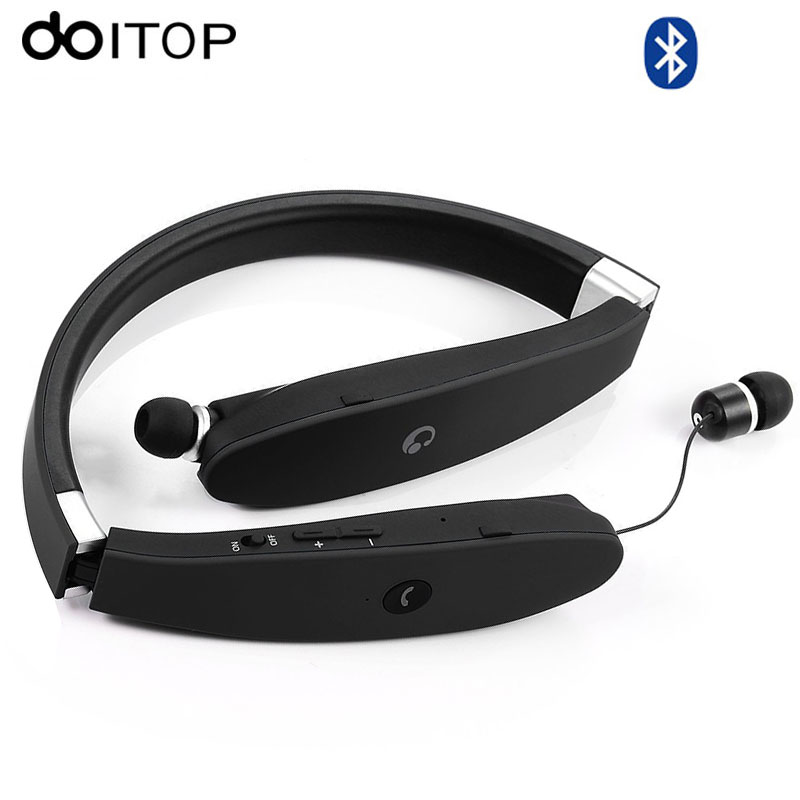 DOITOP for Bluetooth Headphone SX-991 Sport Wireless Headset Foldable Neckband Headset Earphone Retractable Anti-lost Earbuds A3 bluetooth earphone headphone for iphone samsung xiaomi fone de ouvido qkz qg8 bluetooth headset sport wireless hifi music stereo