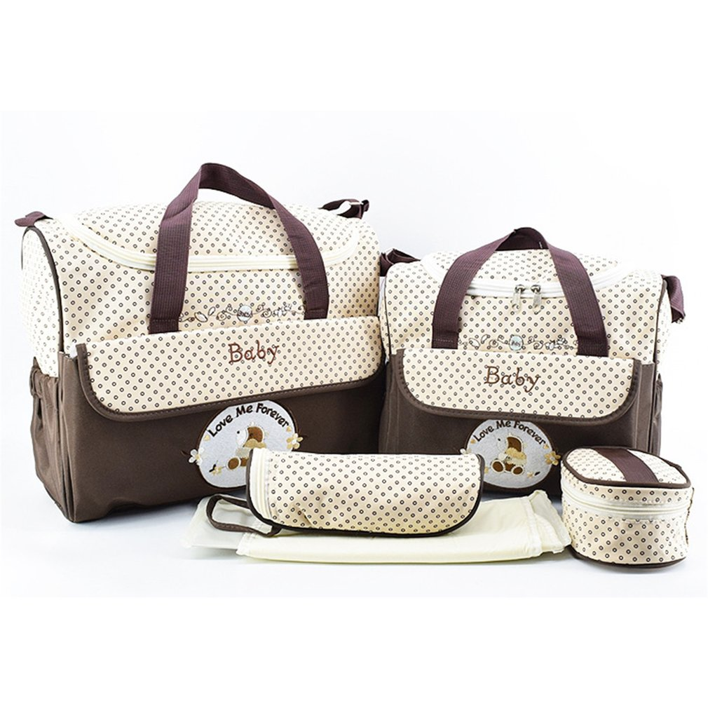 5pcs/Set Nappy Large Capacity Mummy Bag Multifunctional Fashion Ducks Prints Baby Travel Shoulder Bag Handbag for Pregnant Women nappy large capacity mummy bag 5pcs set multifunctional fashion ducks prints baby travel shoulder bag handbag for pregnant women