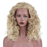 AISI HAIR Synthetic Lace Front Wigs for African American Black Women Long Blonde Afro Kinky Curly Hair