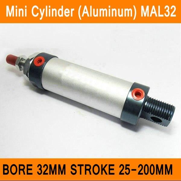 Cilindro Est/ándar Aleaci/ón de Aluminio 63 mm Bore 100 mm Carrera Pist/ón Atornillado Varilla Neum/ático Cilindro de Aire Doble Acci/ón