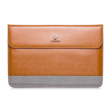 LENTION New Leather-based Pocket book laptop computer Sleeve Case Bag For MacBook Professional/Air 13″ Coloration:Brown-Grey Measurement:For 13.3inch