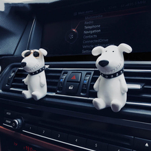 Car Fragrance Clip Smile Sunglasses Dog perfume air conditioner outlet car with ornaments aromatherapy