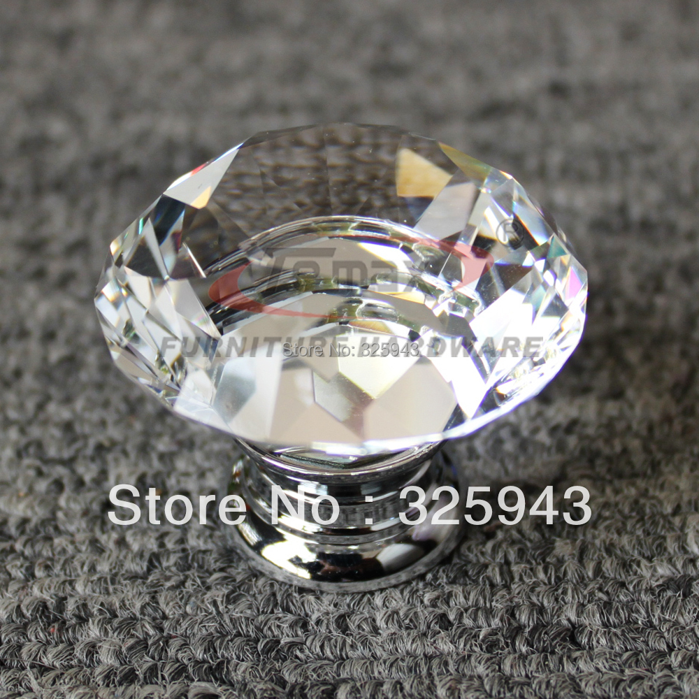 clear glass cabinet knobs. 5pcs 30mm Zinc Alloy Clear Glass Crystal Knobs And Handles Cabinet Dresser Pulls Gate Kids Knob-in From Home Improvement On Aliexpress.com