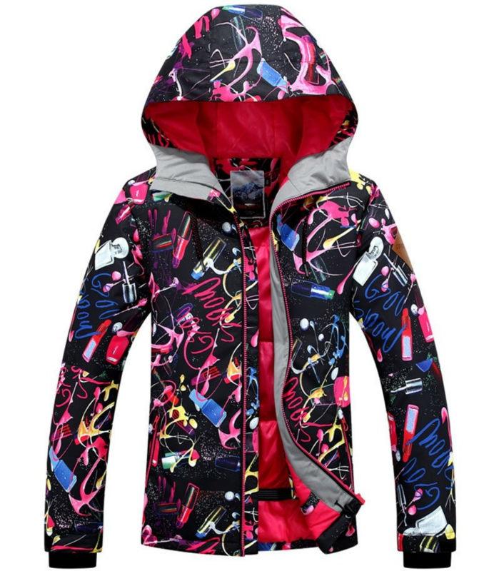 Gsou Snow Women Waterproof Ski Jacket Ladies  Winter Jacket  Windproof -30 Degree Waterproof Rating10000mm