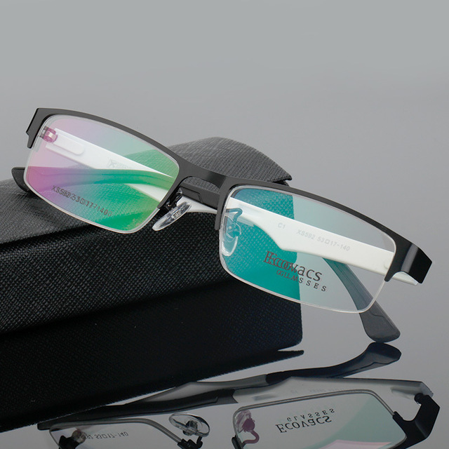 Man Exceed Light Metal Half Frame Myopia Spectacles Frame Comfortable Type Optics Glasses Frame XS 592