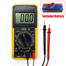 Tester Digital Multimeter Profesional LCD Backlight AC/DC Ammeter Voltmeter Ohm Included Battery