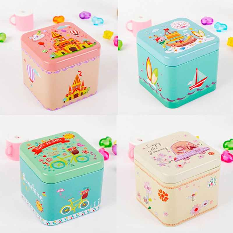 Mini Colorful  Candy Box Small Storage Cans Coin Earrings Headphones Gift Tin Sealed Jar Packing Jewelry