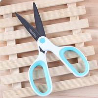 1 Pc Fashion Teflon Anti Rust Scissors For Adult Home And Garden 75x175mm 3 Colors Deli