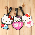 Cute Hello Kitty Luggage Tag Travel Tag PVC Toys Portable Suitcase Bag Tag 8cm 3 Styles