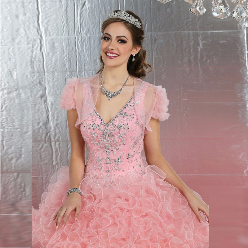 2016-High-Quality-Ruffles-Beading-Organza-Ball-Gown-Quinceanera-Dresses-For-15-Years-Vestidos-Plus-size (2)