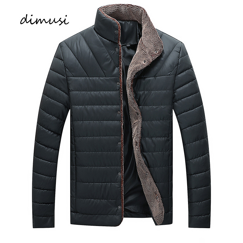 DIMUSI Autumn Mens Bomber Jackets Male Fleece Thick Warm Windbreaker Jacket Mens Fur Collar Baseball Parkas Coats Clothing 5XL