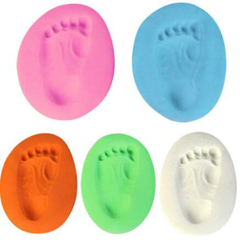 2019 1pc Babys On Progress Souvenirs Handprint Footprint Air Dry Soft Clay Decoracion Items Babies Grown Memory For Pet Cat Dog