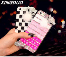 XINGDUO diamond Case For iPhone X 5 SE 5C 6 6S 7 8 Plus XR XS MAX Phone shell luxury Glitter Fox head Back Protective cover protective plastic back case for iphone 5c black