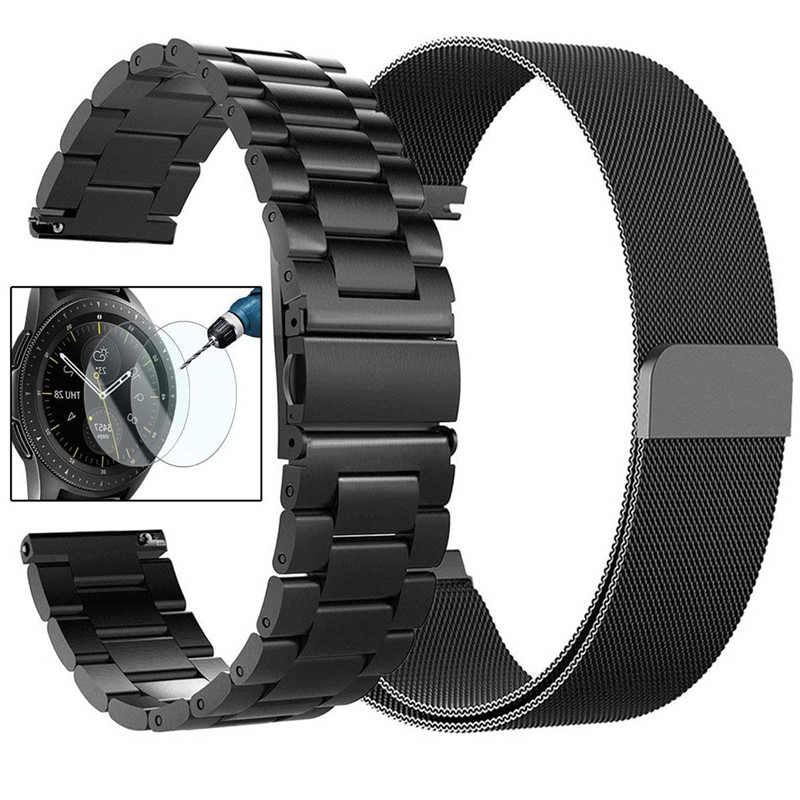 For Samsung Galaxy Watch 42mm Bands/Gear S2 20mm 22mm Stainless Steel Milanese Loop Strap For Galaxy Watch 46mm/Gear S3 Frontier