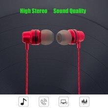 Fone de ouvido de Metal Fone De Ouvido Fone de Ouvido Noise Isolando Fones de Ouvido Esporte fone de ouvido Estéreo fone de Ouvido com Microfone para iphone Xiaomi Samsung Mobile phone Uni