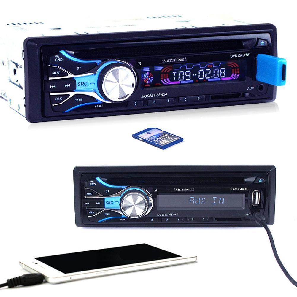 Car Radio Fm Transmitter Car CD Player Supplies Audio Radio MP3 Card Host Video Bluetooth Autoradio Multimedia Player