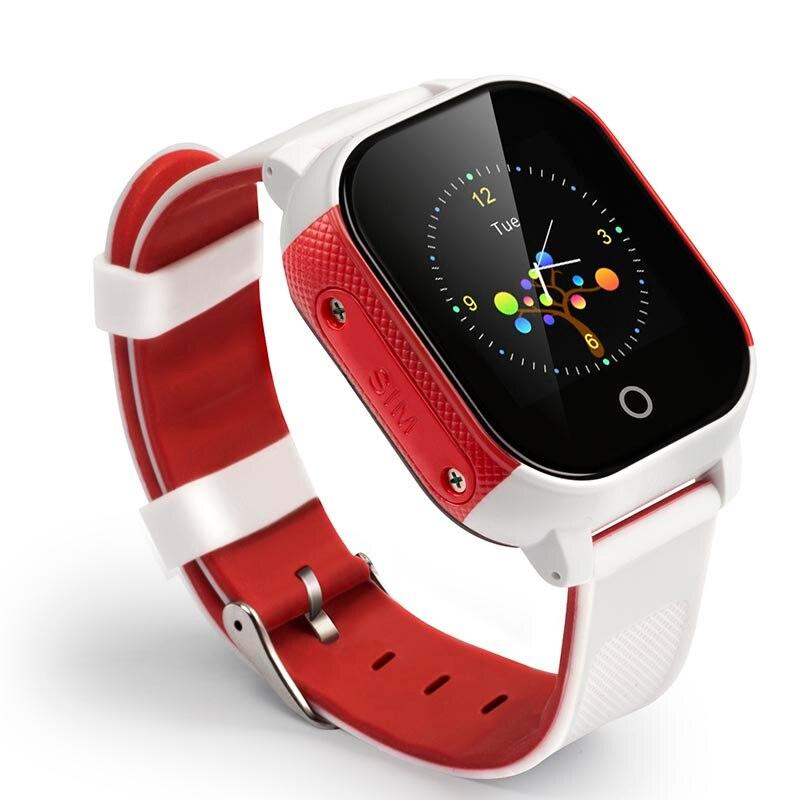 Écran tactile de soutien facultatif multicolore IP67 catégorie imperméable GPS + WIFI + LBS plaçant la montre intelligente FA23 de GPS d'enfants