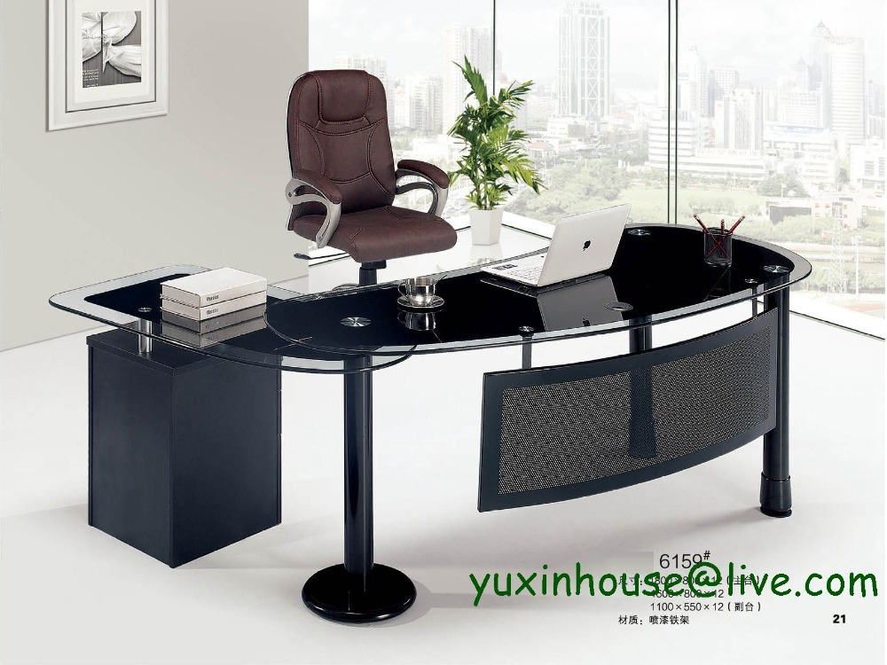 tempered glass office desk. Tempered Glass Office Desk Boss Table Commercial Furniture With Modern Design Executive 6159 On Aliexpress.com | Alibaba Group O