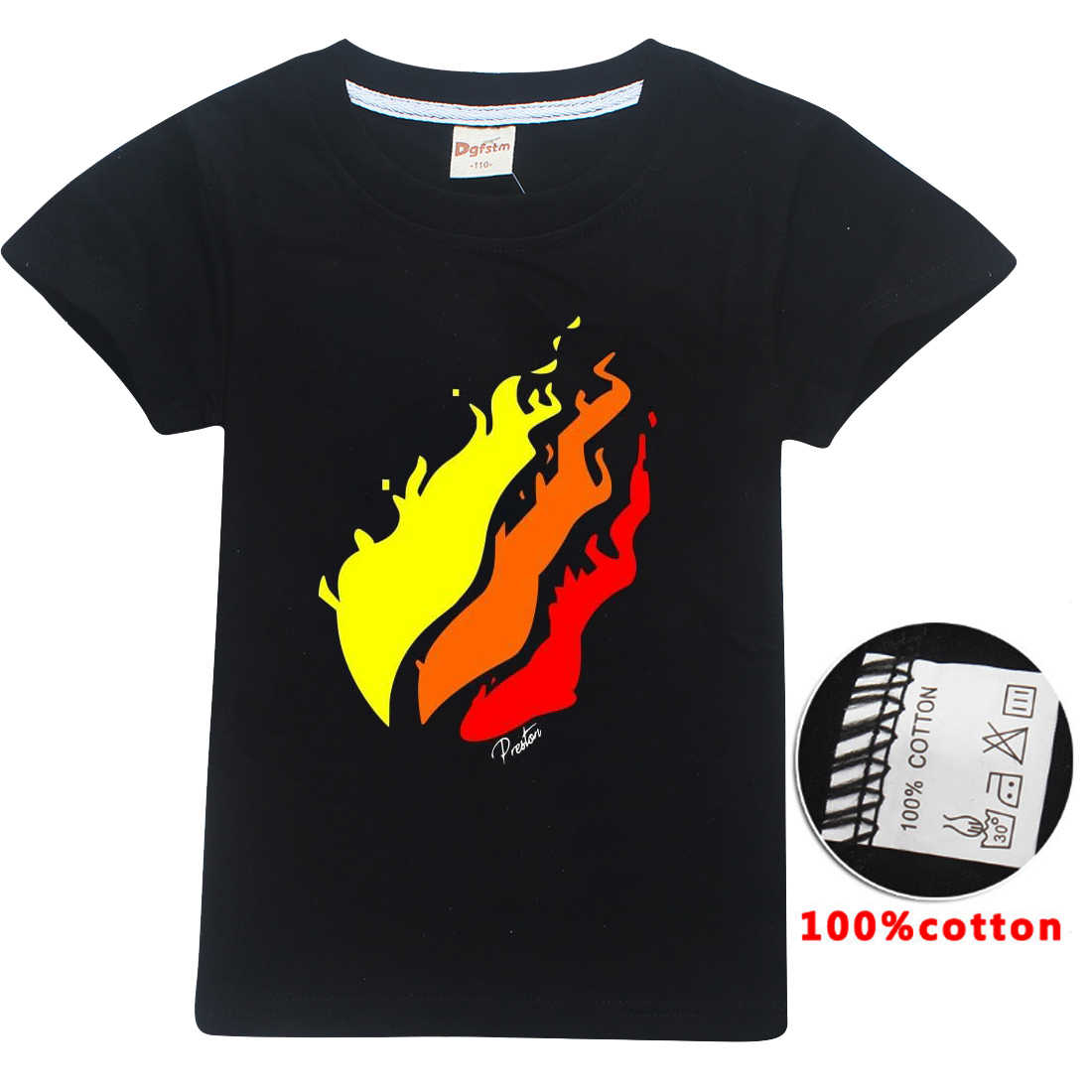Летняя футболка для детей от 5 до 14 лет, для мальчиков и девочек, PRESTONPLAYZ, цветная, с 3d принтом, YOUTUBER Preston Playz, 2019, топы, детская одежда