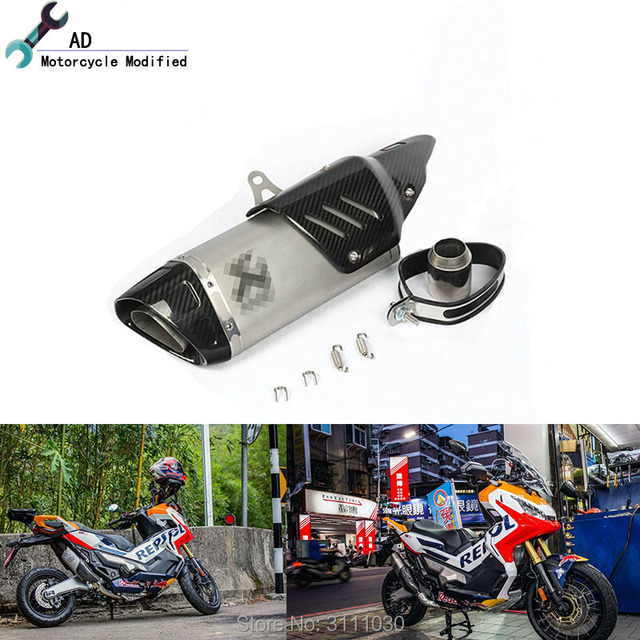 For Honda X Adv 750 2018 Exhaust Pipe Muffler With Covers For Honda