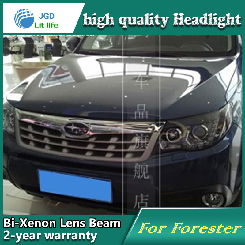 Car styling head lamp case for subaru forester 2009-2012 headlights led headlight drl lens double bea